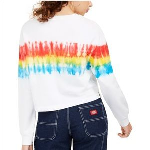 NWT tie dye striped Crewneck pullover top